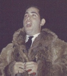 Richard Heyman in the raccoon coat, 1968.